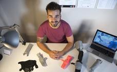 Brazos 'low cost' impresos en casa