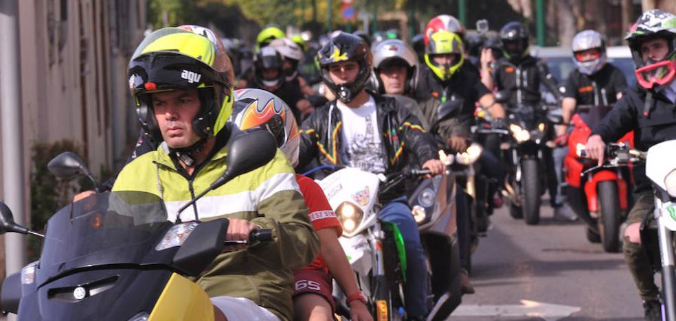 Ruta solidaria en moto por La Rubia para el Banco de Alimentos