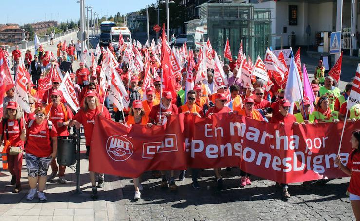Marcha por las pensiones en Segovia
