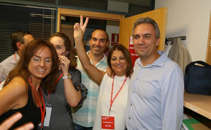 Teresa López celebra su victoria en las primarias del PSOE de Valladolid