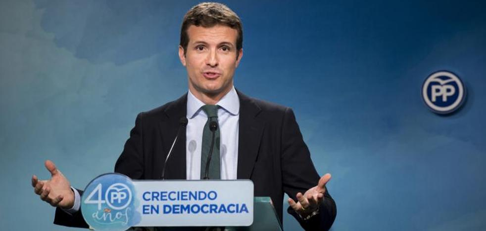 Casado advierte a Puigdemont que puede acabar como Companys