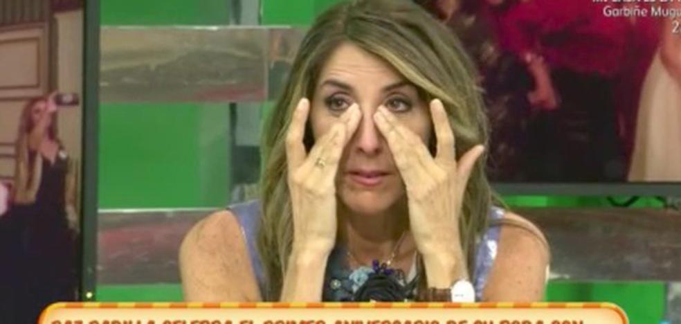 Paz Padilla llora desconsoladamente