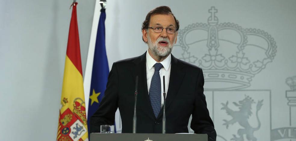 Rajoy comparecerá hoy en el Congreso a las 16.00 para hablar de la crisis en Cataluña