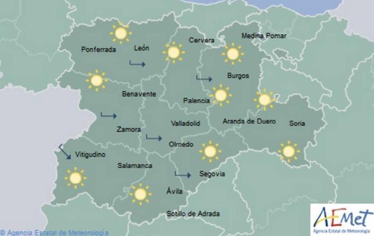 Tiempo despejado en toda Castilla y León