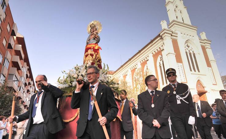 Procesión de la Virgen del Pilar en Valladolid
