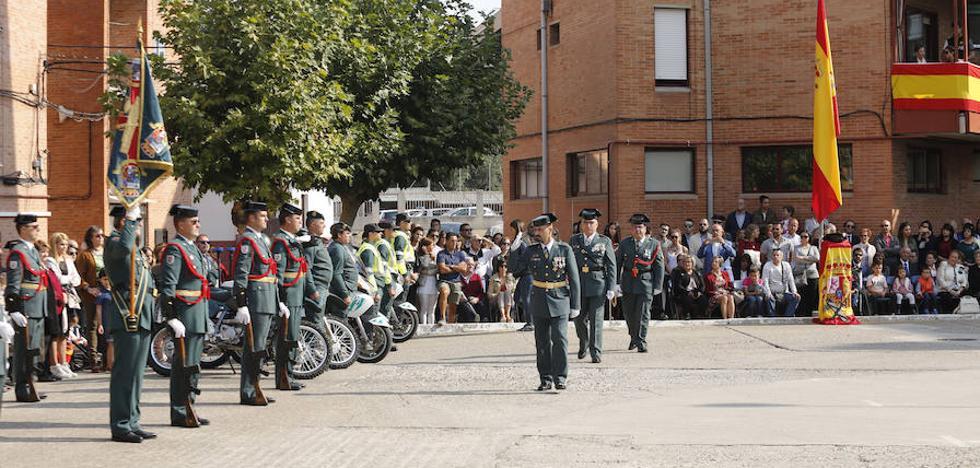 La Guardia Civil defiende en Palencia el orden constitucional en la fiesta de su patrona
