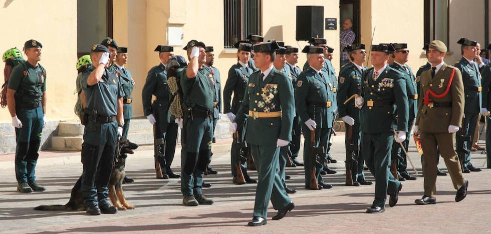 La Guardia Civil de Segovia festeja el 12-O en un acto muy emotivo