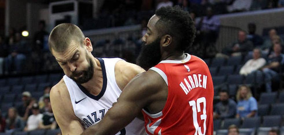 Los Rockets de Harden y Paul dominan a los Grizzlies de Marc Gasol