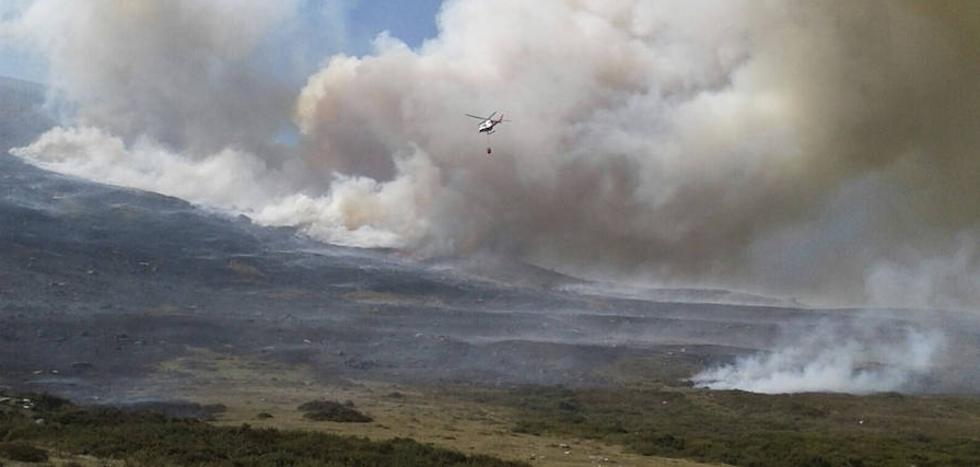 El fuego declarado en Cantabria ha afectado a Brañosera
