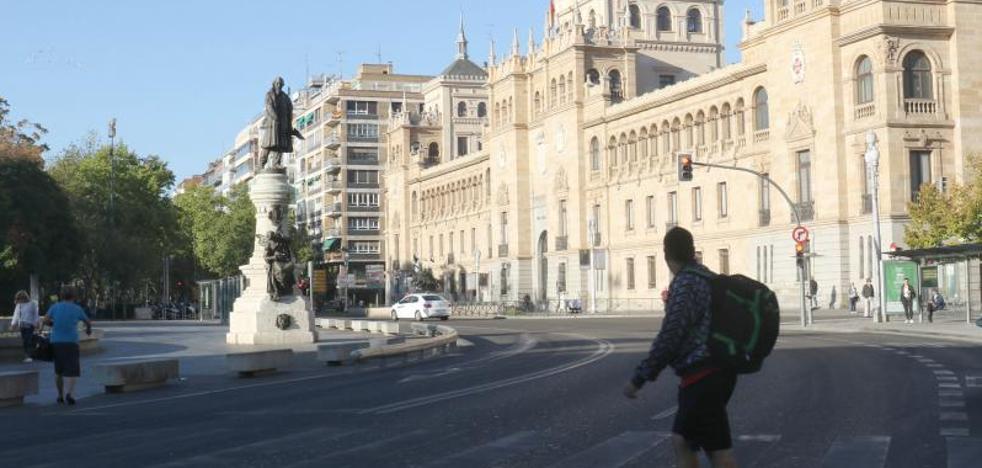 Valladolid cierra al tráfico su casco histórico