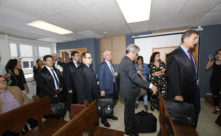 Primera sesión del juicio civil por la explosión de Gaspar Arroyo en Palencia