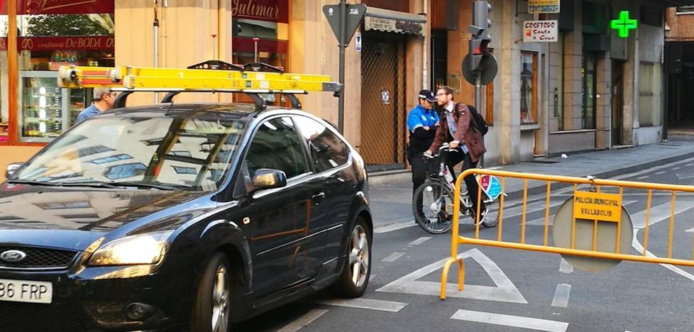 Valladolid despierta en el tercer día de restricciones al tráfico por la contaminación