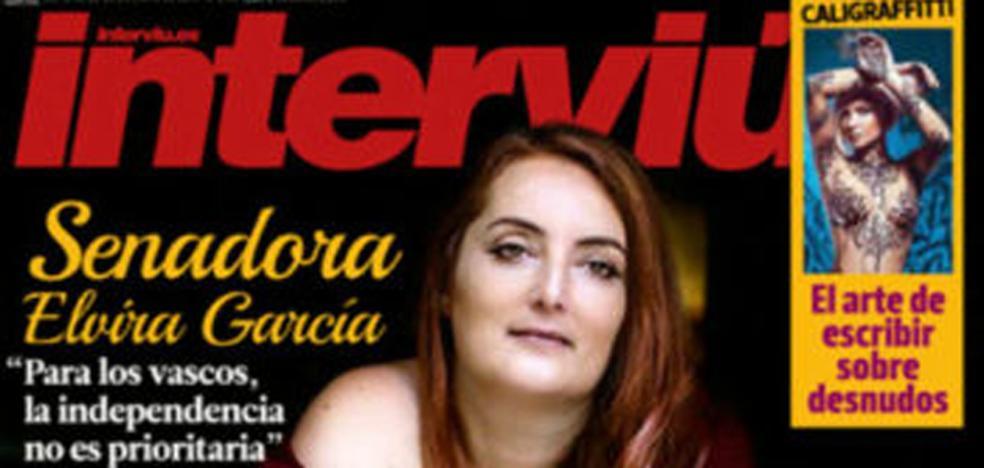 Elvira García, exsenadora de Podemos, portada de 'Interviú'