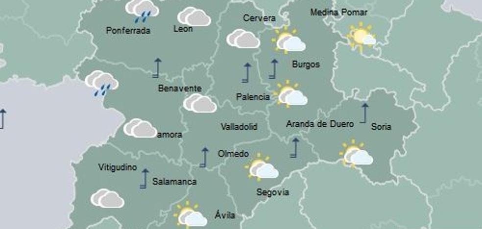 La lluvia llega a Castilla y León esta tarde