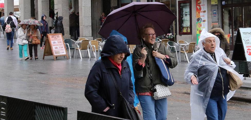 Tímida aparición de la lluvia en Segovia después del septiembre mas seco