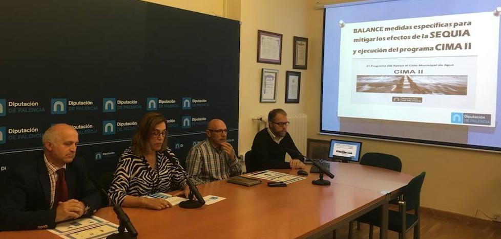 La Diputación de Palencia lleva 4,5 millones de litros de agua potable a 21 poblaciones