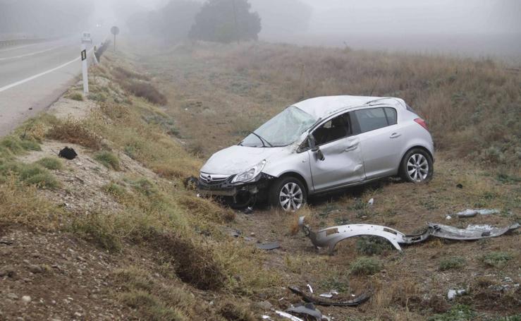 Accidente en la N-122 a la altura de Quintanilla de Arriba