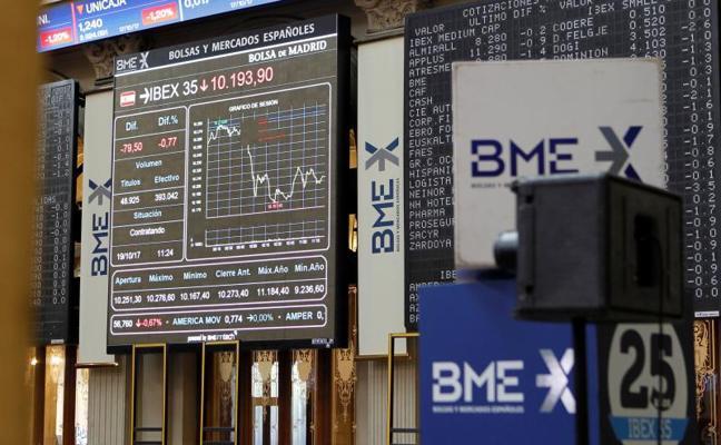 El Ibex-35 baja un 0,74% y pierde los 10.200 puntos