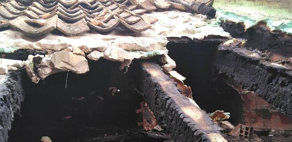 Arde una vivienda en Cuéllar por la mala combustión de una estufa