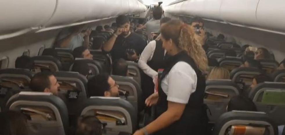 Increíble regalo para los doscientos pasajeros de este vuelo Madrid-A Coruña