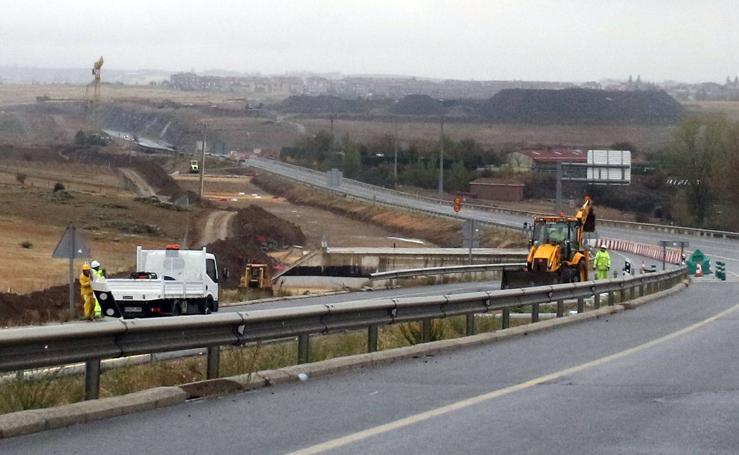 Obras en la carretera SG-20