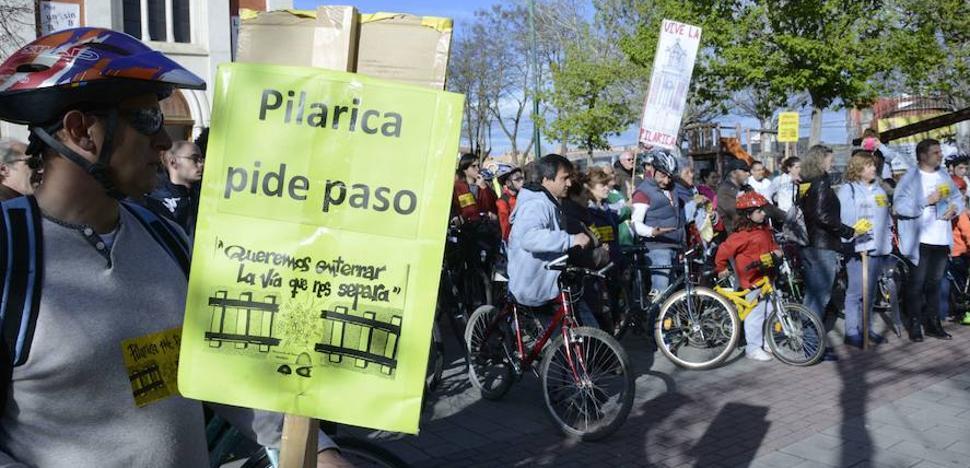 Vecinos de Pilarica se suman a los de Murcia para pedir el soterramiento del tren