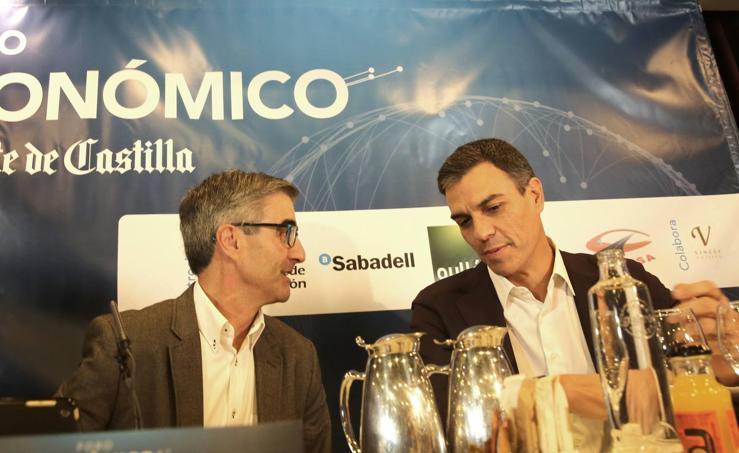 Pedro Sánchez, en el Foro Económico de El Norte de Castilla