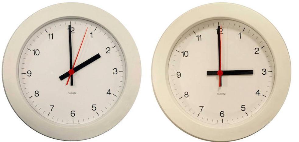 El domingo de madrugada se retrasan los relojes, a las 3:00 serán las 2:00