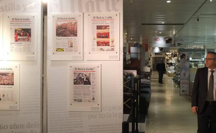Exposición '15 años de Vocento' en el Corte Inglés de Valladolid