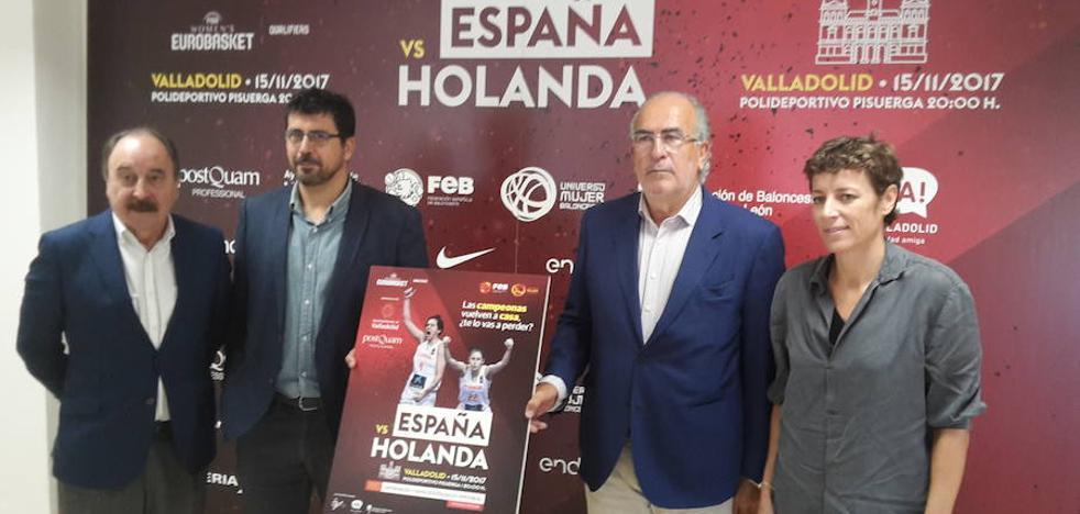 La selección española femenina, en el Pisuerga