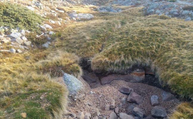 El nacimiento del Duero, sin nada de agua por la sequía