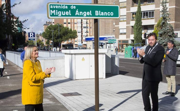 Inauguración de la calle Miguel Ángel Blanco en Valladolid