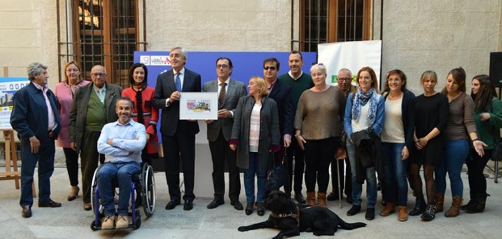 La ONCE dedica un cupón a Ávila por su Premio Reina Letizia de Accesibilidad 2016