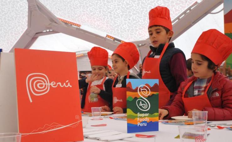 Curso de cocina para niños en la Cúpula del Milenio de Valladolid