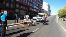 Herido un hombre de 74 años tras ser atropellado por una moto en Valladolid capital