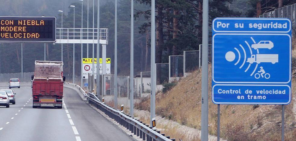 Un radar de tramo vigilará la bajada hasta la autopista desde Navacerrada
