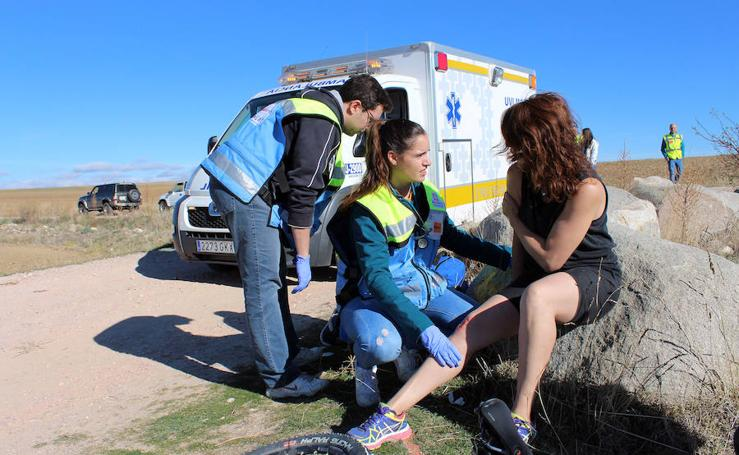 Simulacro de emergencia en una prueba de Mountain Bike