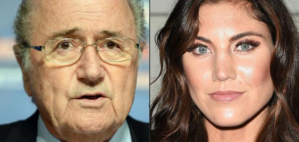 Blatter tacha de «ridícula» la acusación de abuso sexual a Hope Solo