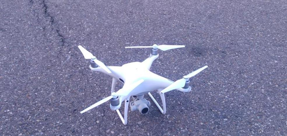 Un dron ayudará a los bomberos de Palencia a sofocar fuegos