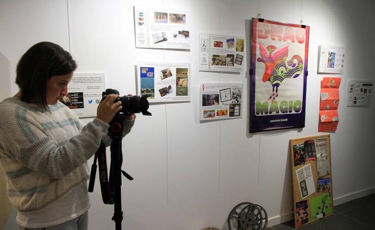 Inauguración de la exposición 'Cine y educación' en el campus María Zambrano