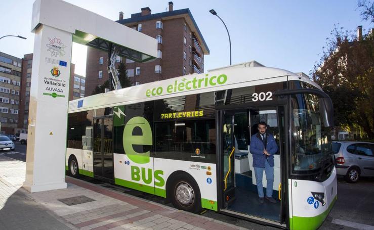 Valladolid presenta la primera línea de autobús electrificada del país