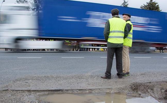 Los transportistas de Burgos reclaman un 100% de bonificación y mayor «esfuerzo» de Fomento