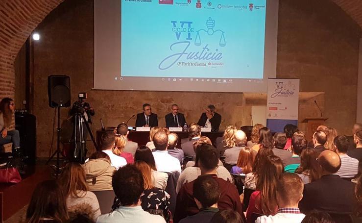 Antonio Vercher, en el VI Ciclo de Justicia de El Norte de Castilla-Santander que se celebra en León