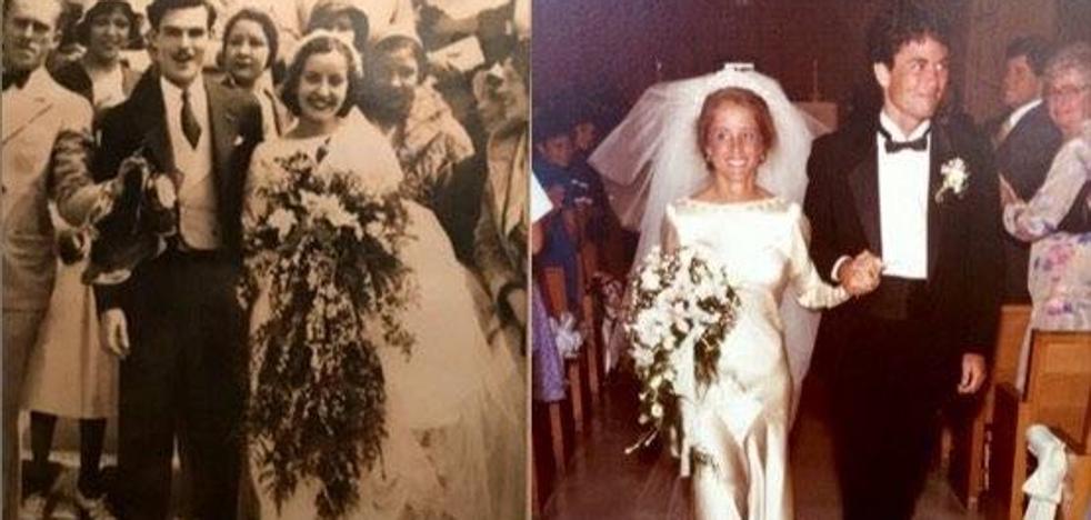 Cuatro mujeres y un mismo vestido de boda