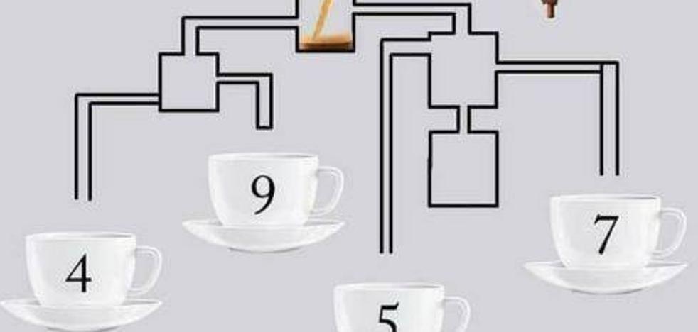 ¿Qué taza se llena antes?