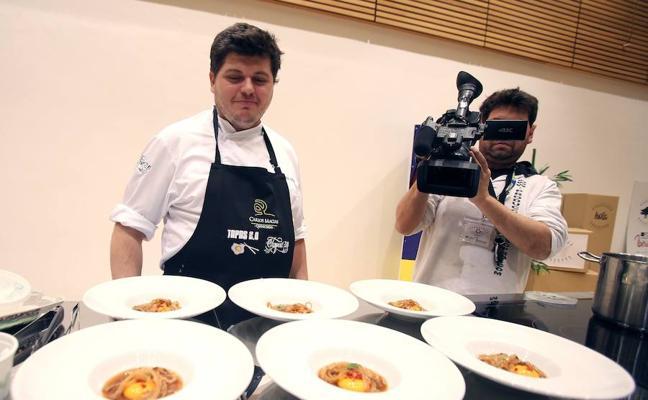 El cocinero salmantino Jorge Lozano gana el I Concurso de Cocina con Ibérico