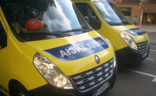 Seis heridos en una colisión entre dos turismos en Monasterio de Rodilla