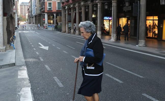 El centro de Valladolid, cortado al tráfico