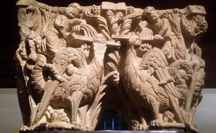 Las mejores piezas del Monasterio Santa María la Real de Aguilar se hallan en el Museo Arqueológico Nacional