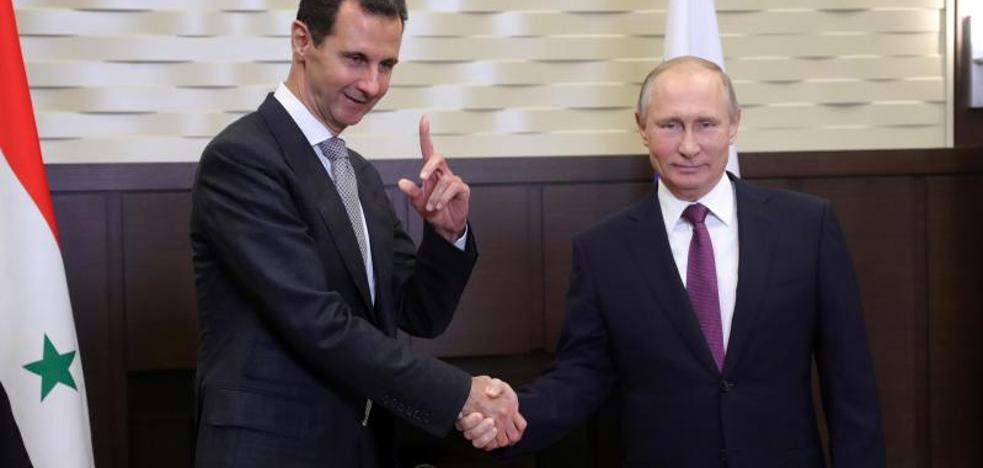 Putin hablará hoy por teléfono con Trump tras reunirse con El-Asad